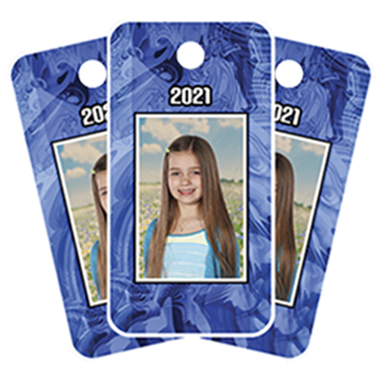 Key Fobs with student image and year