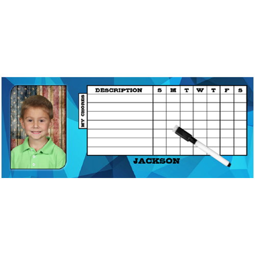 Chore Chart with name (magnetic)