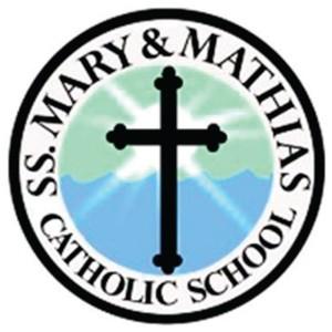 Halverson Photography School Photographer Iowa City District Saints Mary and Mathias Catholic School logo